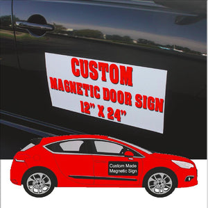 Magnetic Car Door Signs-CUSTOM ONLY