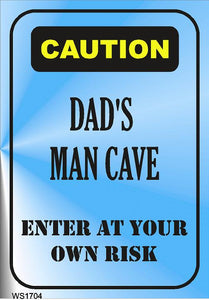 Wall Sign-Dad's man cave