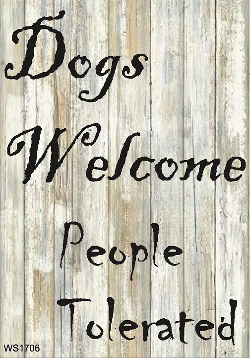 Wall Sign-Dogs welcome