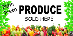Banner-Fresh produce sold