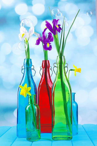 Canvas Wrap-Flowers in a bottle2