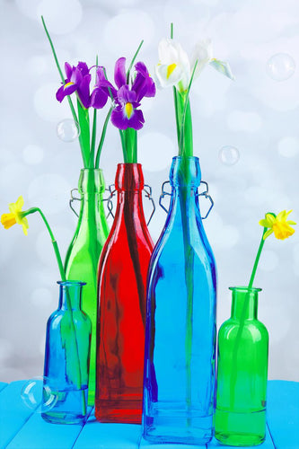 Canvas Wrap-Flowers in a bottle