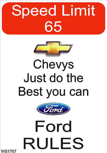 Wall Sign-Ford rules