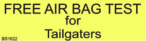 Magnetic Car Sign-Free air bag test