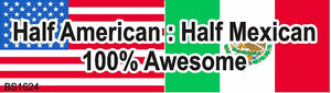 Magnetic Car Sign-Half American half Mexican