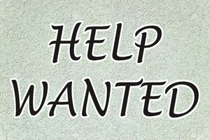 Window Sign-Help Wanted Stucco