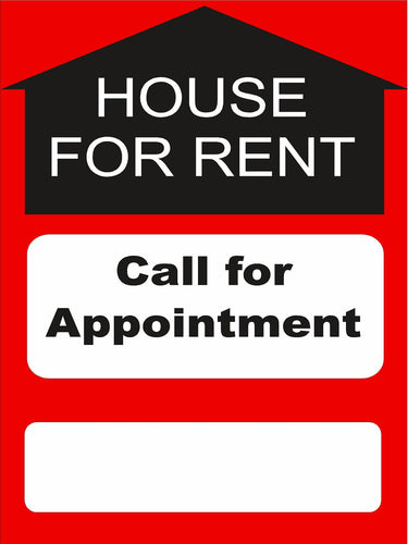 Window Signs-House for rent