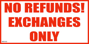 Banner-No refunds