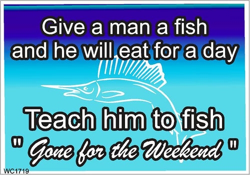 Wall Sign-Teach to fish