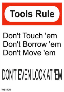 Wall Sign-Tools rule