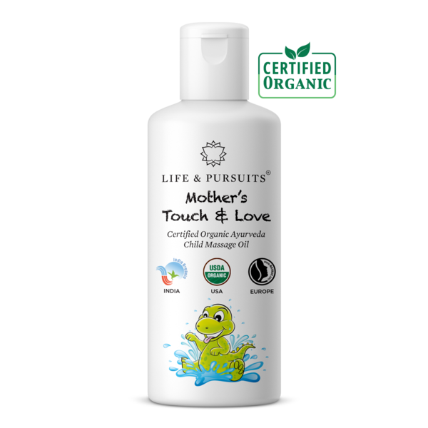 Life & Pursuits' Organic Baby Massage Oil