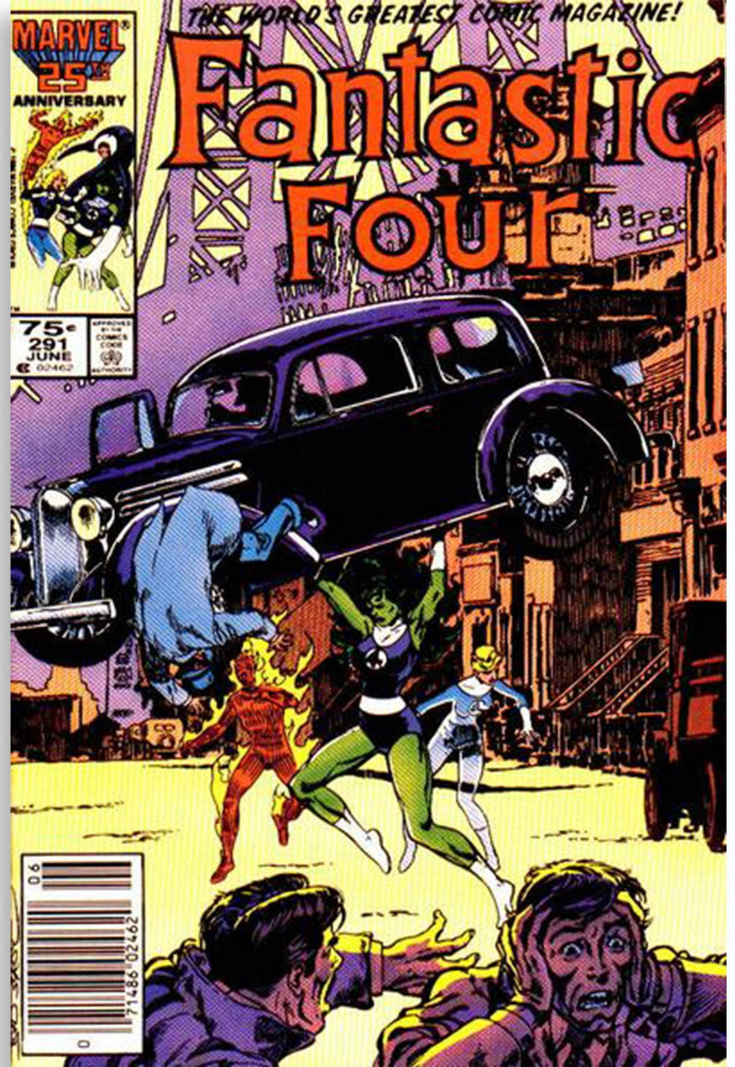 Fantastic Four #291 - Action Comics #1 Homage