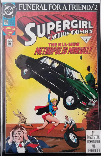 Action Comics #685 2nd Print - Action Comics #1 Homage FN