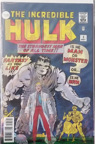 Captain Marvel #125 Lenticular Cover - Incredible Hulk #1 Homage