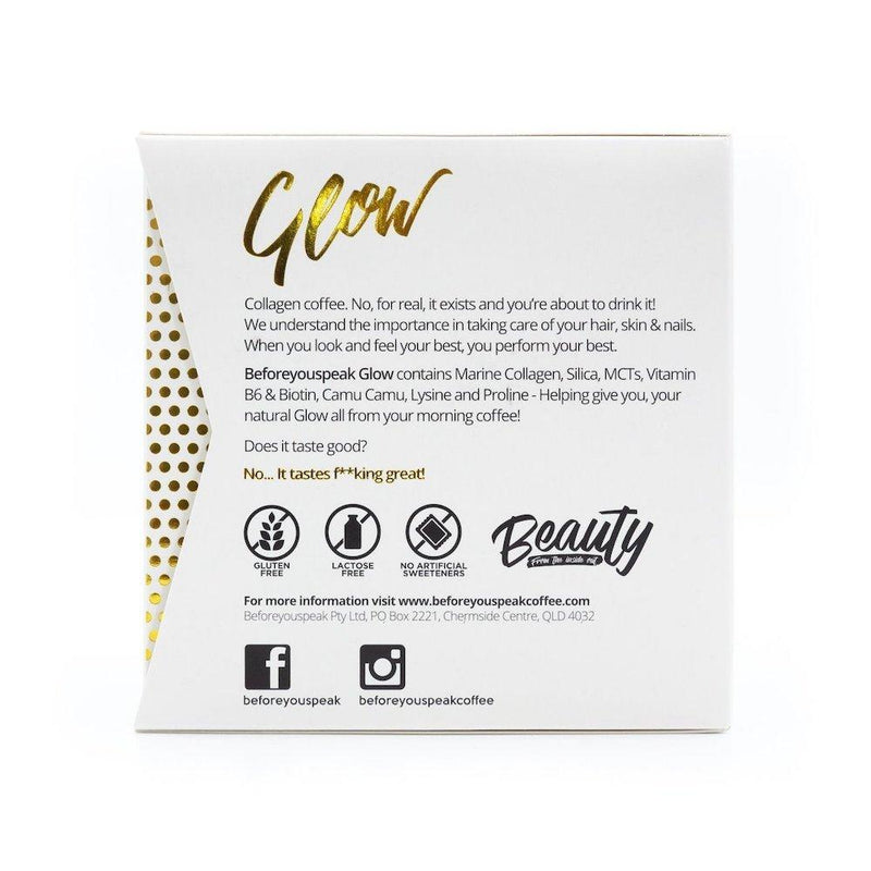 Beforeyouspeak GLOW Collagen Coffee - Original - 30 Serves The Glow Store
