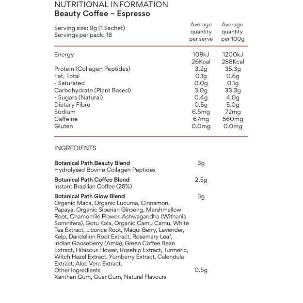 Botanical Path Collagen Beauty Coffee - Brazilian Espresso-Botanical Path-THE GLOW STORE