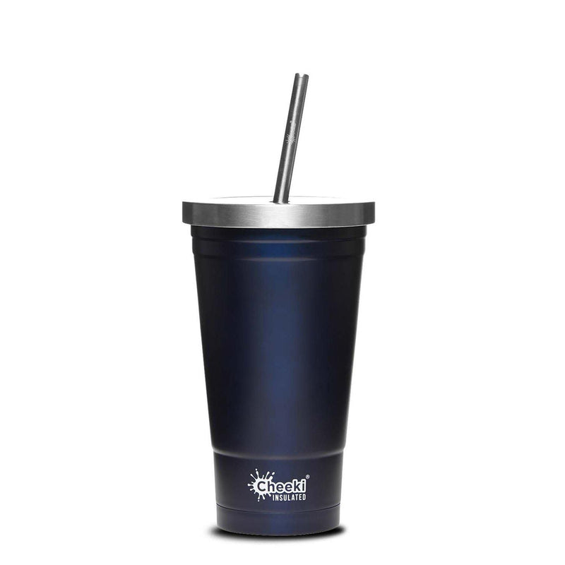 Cheeki > 500ml Stainless Steel Insulated Tumbler With Stainless Steel Straw - Ocean-Cheeki-THE GLOW STORE