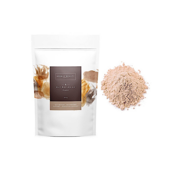 Edible Beauty > Gut Replenish Powder 210g - Gut Balancing, Microbiome Support, Digestive Support-Edible Beauty-THE GLOW STORE