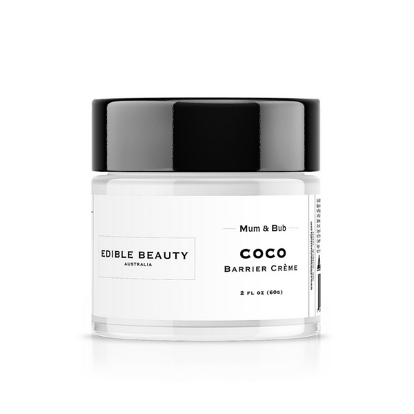 Edible Beauty Mum & Bub Coco Barrier Cream - Vegan - Pregnancy Safe 60g-Edible Beauty-THE GLOW STORE