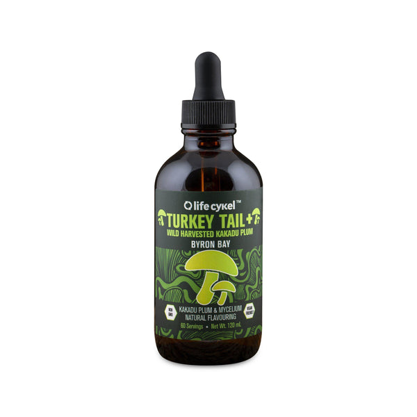 Lifecykel Turkey Tail Mushroom Liquid Extract - 120ml-Lifecykel-THE GLOW STORE