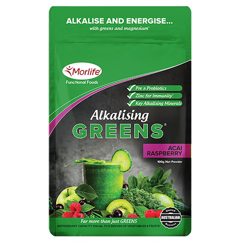 Morlife Alkalising Greens® - Acai Raspberry The Glow Store
