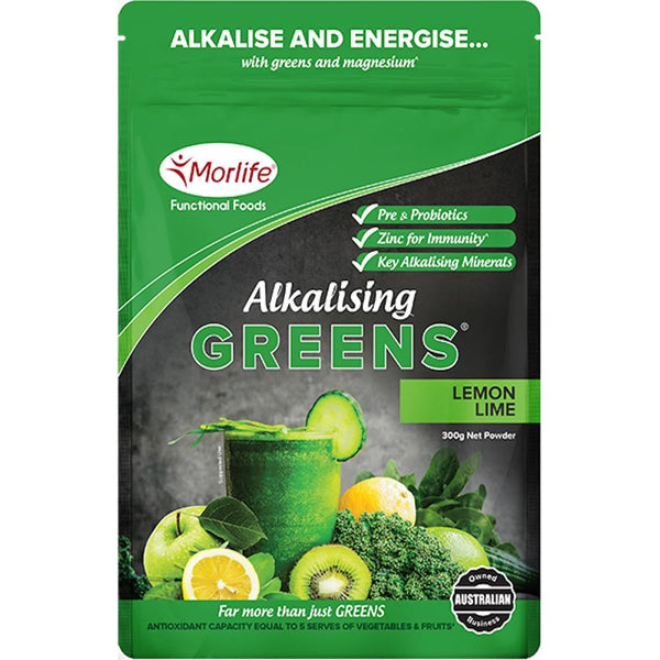Morlife Alkalising Greens® - Lemon Lime The Glow Store