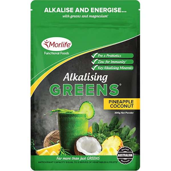 Morlife Alkalising Greens® - Pineapple Coconut-Morlife-THE GLOW STORE
