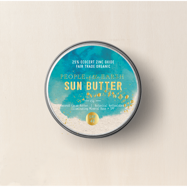 People Of The Earth Sun Butter 45g (Small) SPF40 Natural Sunscreen-People of the Earth-THE GLOW STORE