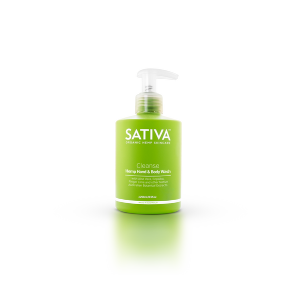 Sativa Organic Skincare CLEANSE Organic Hemp Hand & Body Wash 250ml-Sativa-THE GLOW STORE