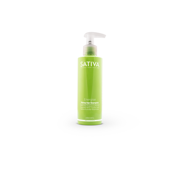 Sativa Organic Skincare ENERGISE Hemp Hair Shampoo 200ml-Sativa-THE GLOW STORE