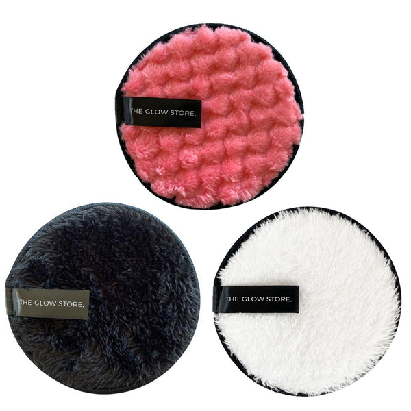 Super Soft Reusable Makeup Remover Pads - 3 pack-The Glow Store-THE GLOW STORE