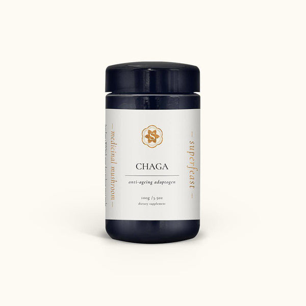 Superfeast Chaga Mushroom Powder - Anti-Ageing Adaptogen - 100g-Superfeast-THE GLOW STORE
