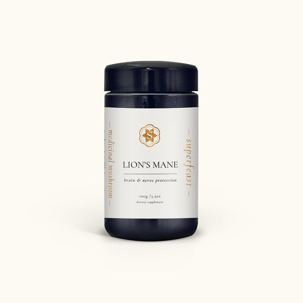 Superfeast Lion's Mane Mushroom Powder - Brain & Nerve Protection - 100g-Superfeast-THE GLOW STORE