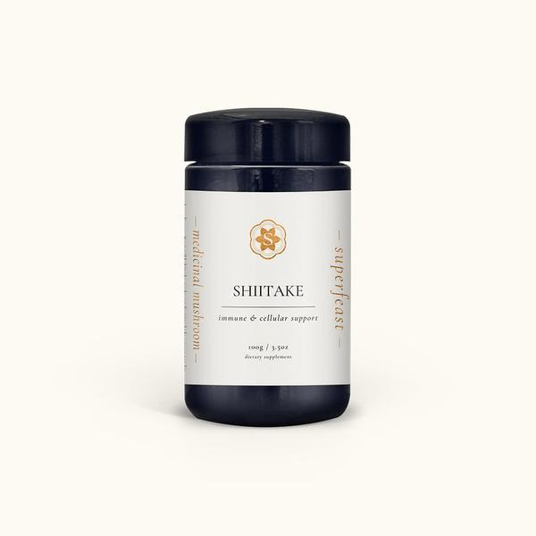 Superfeast Shiitake Mushroom Powder - Immune & Cellular Support - 100g-Superfeast-THE GLOW STORE