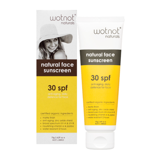 Wotnot Naturals > Anti-Aging Facial Sunscreen & Primer SPF30 - 75g-Wotnot Naturals-THE GLOW STORE