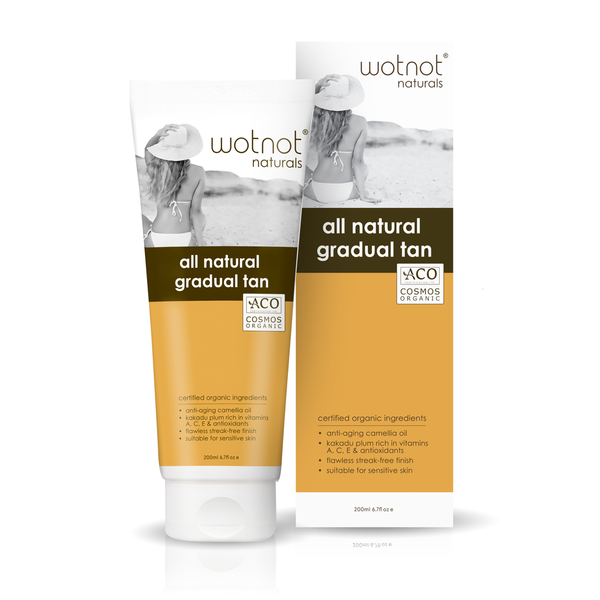 Wotnot Naturals > Certified Organic Gradual Tanning Lotion Suitable For Sensitive Skin - 200ml-Wotnot Naturals-THE GLOW STORE