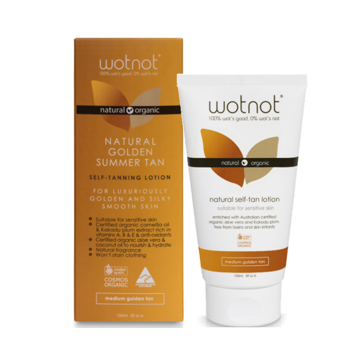 Wotnot Naturals > Certified Organic Self-tanning Lotion > Medium Golden Tan - 150ml-Wotnot Naturals-THE GLOW STORE