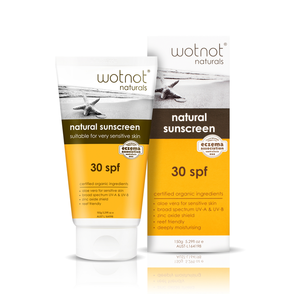 Wotnot Naturals > Natural Sunscreen SPF30 Suitable For Very Sensitive Skin - 150g-Wotnot Naturals-THE GLOW STORE