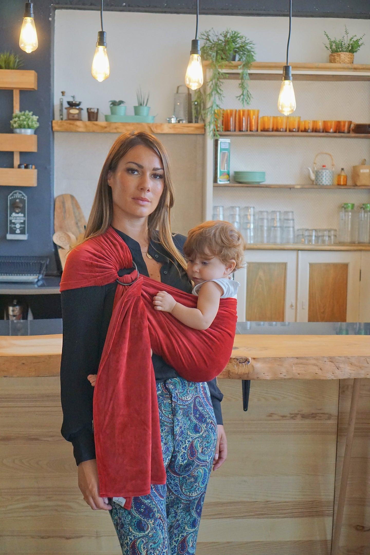 Grenat : porte-bébé sling simple