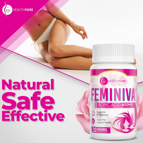 Feminiva 30 Count (600mg Boric Acid Suppositories)