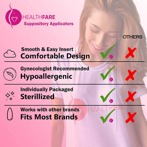 HealthFare Disposable Vaginal Applicators (30-Pack)