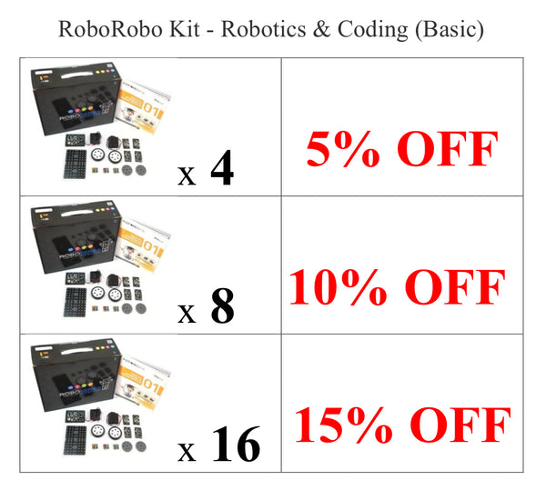 Club Set - RoboRobo Kit - Robotics & Coding (Core Set)