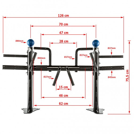 ATX® FUNCTIONAL PULL-UP STATION - KLIMMZUGSTATION