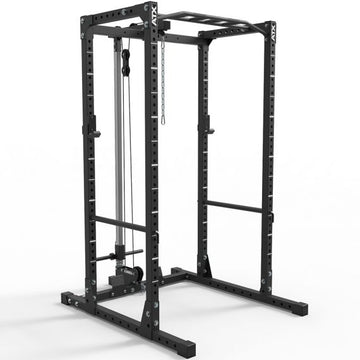 ATX® POWER RACK – KOMPLETTSTATION- 620 MIT PLATE LOAD LATZUGSTATION HÖHE 218 CM