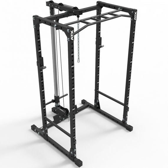 ATX® POWER RACK KOMPLETTSTATION- 510 MIT PLATE LOAD LATZUGSTATION HÖHE 198 CM