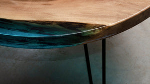 Round Resin Dining Table