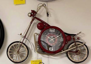 Vintage Style Bike Wall Clock