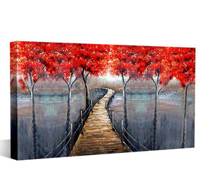 foggy-road-red-leaves-canvas-painting-4