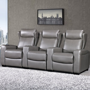 Spencer 3 Seater Leather Lounge