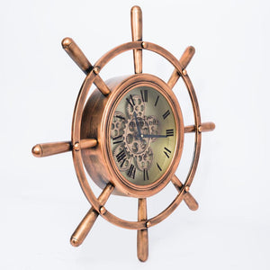 Round Roman Numeral Moving Cogs Wall Clock 70cm